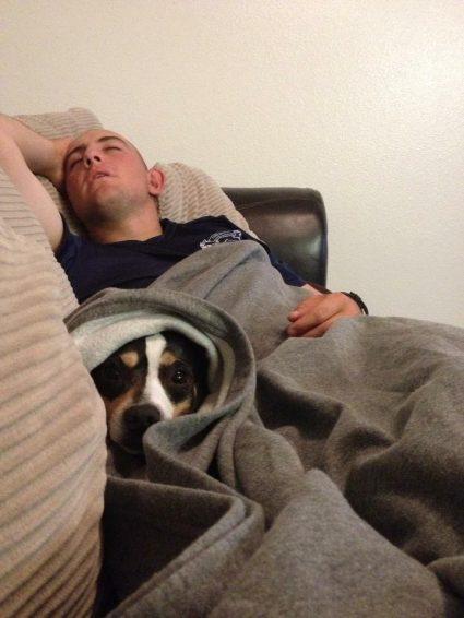 Dax loves his Marine dad.
